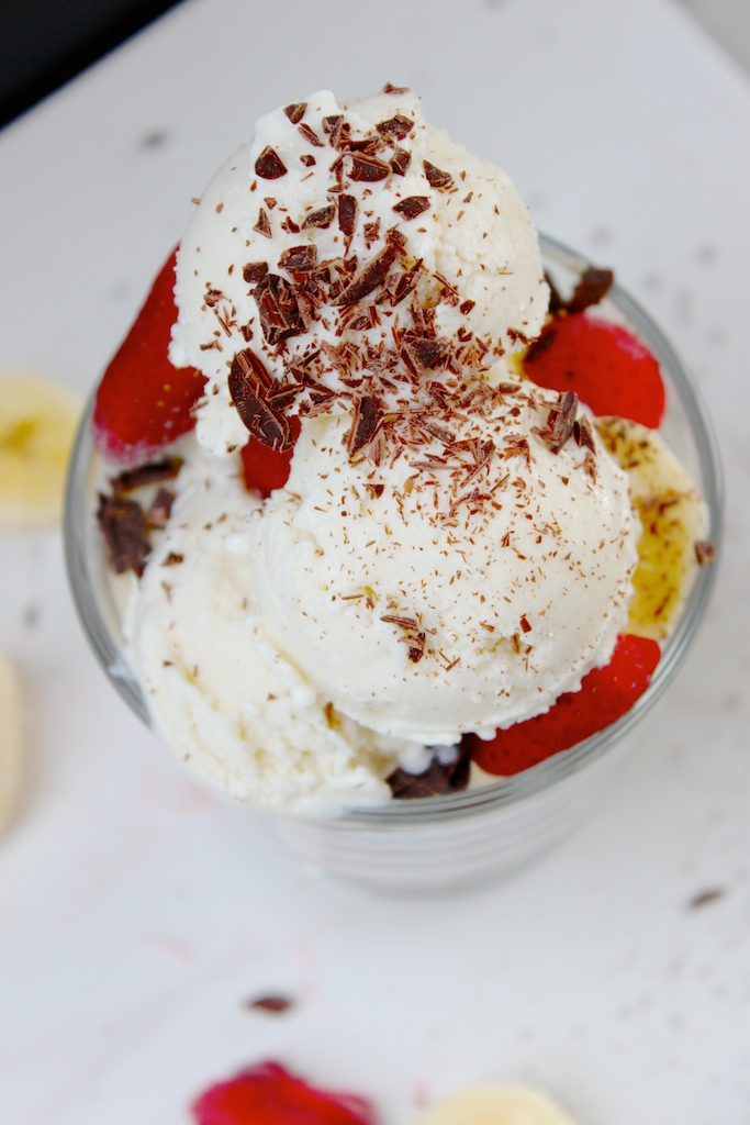 Healthy Ice Cream, For Breakfast! Two Ingredients, Protein Packed, Mom Approved! the diva-dish.com