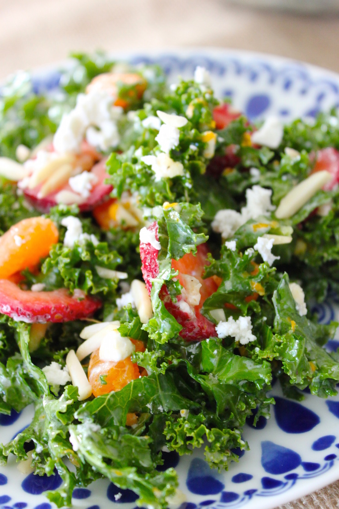 Spring Citrus Kale Salad from The Diva Dish
