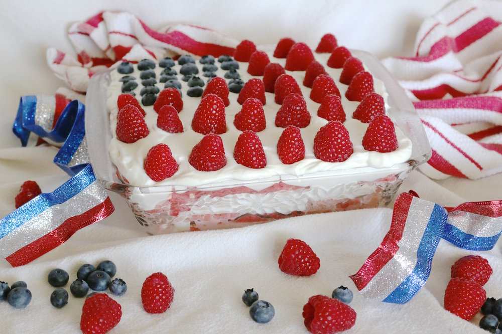 4th of July Watermelon Cake