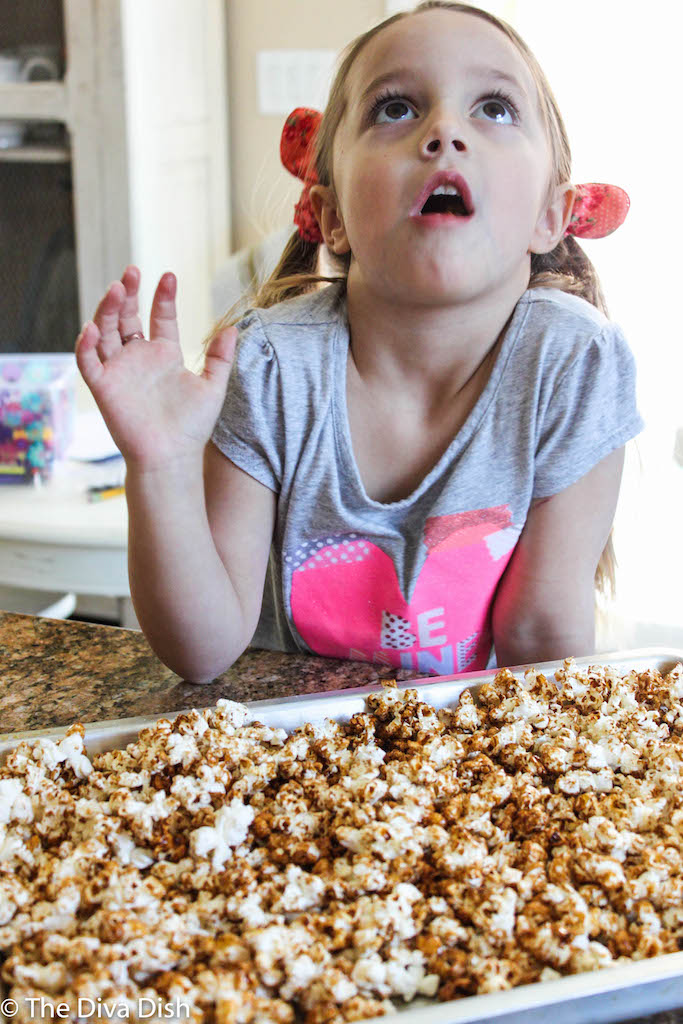 Healthy Caramel Corn via The Diva Dish