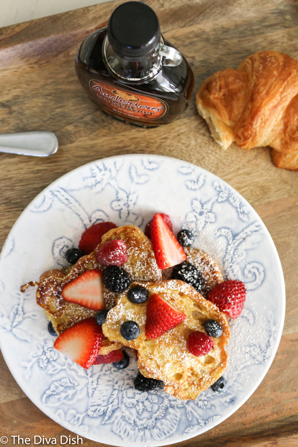 Croissant French Toast via The Diva Dish