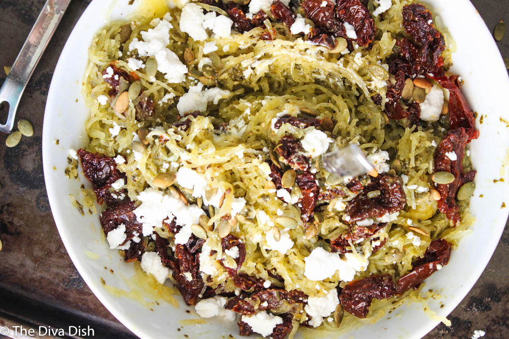 Pressure Cooker Spaghetti Squash via The Diva Dish