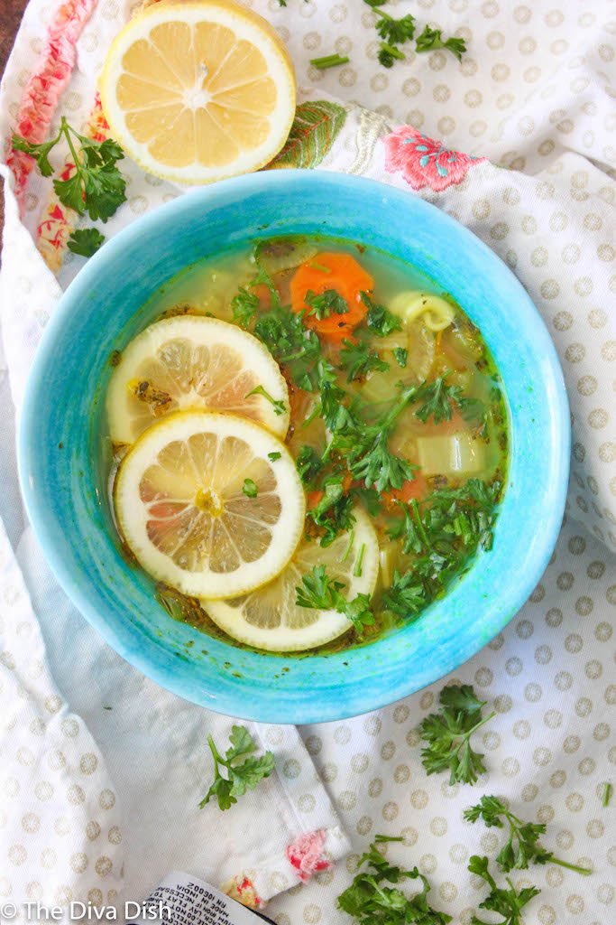 Lemon Chickpea Noodle Soup