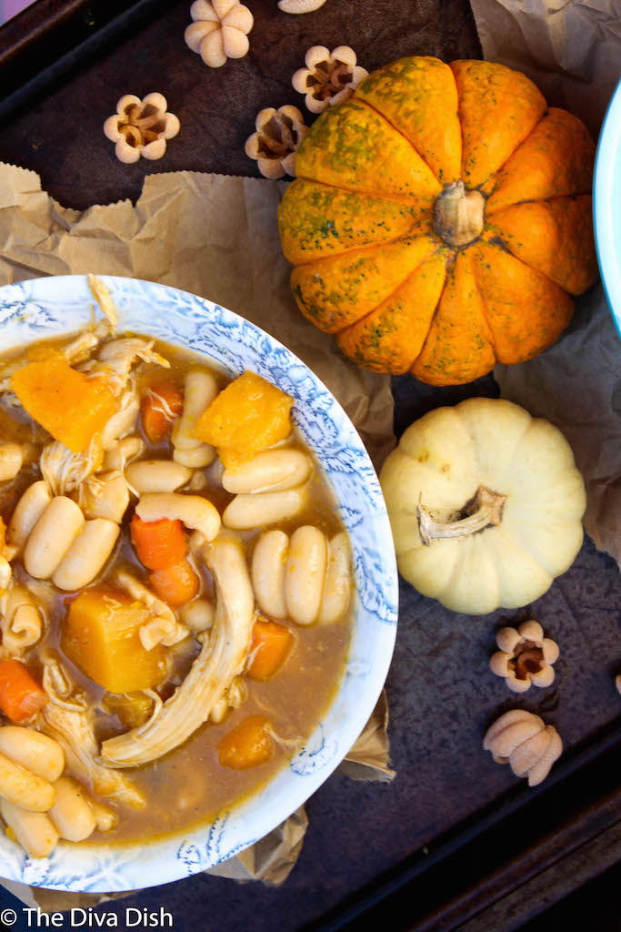 Pumpkin Butternut Chicken Noodle Soup
