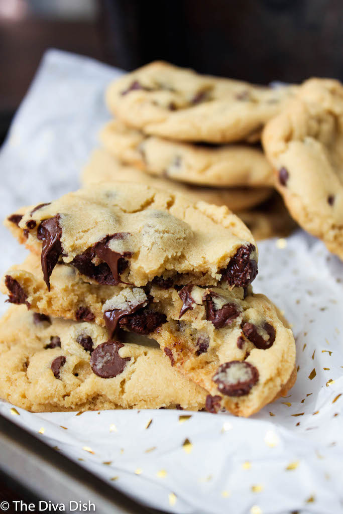 Our Favorite Chocolate Chip Cookies via The Diva Dish