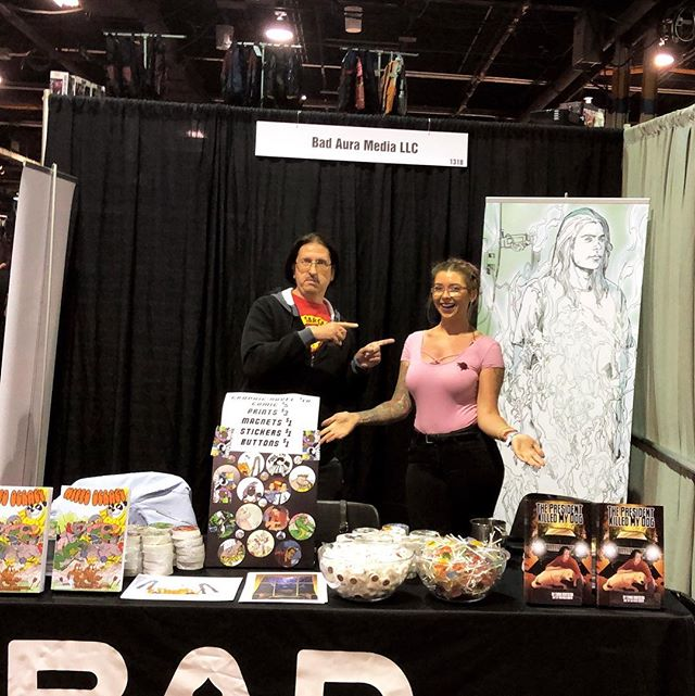 Come say hello @wizardworld we're across from artist alley! #wizardworld #artistalley