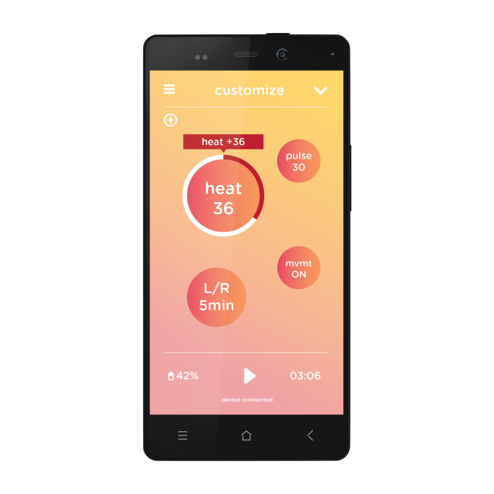Smart - App-based temperature control and customizable pain profile creation places pain management directly in your control, no matter where you are.