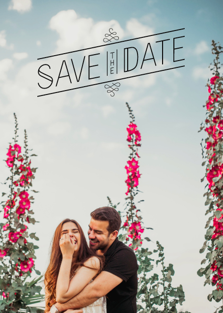 Our save the date designed by me with the help of Meera Graphics and  Paperless post . Details about Save the date ideas coming very soon!  Picture credits :  www.namanverma.com