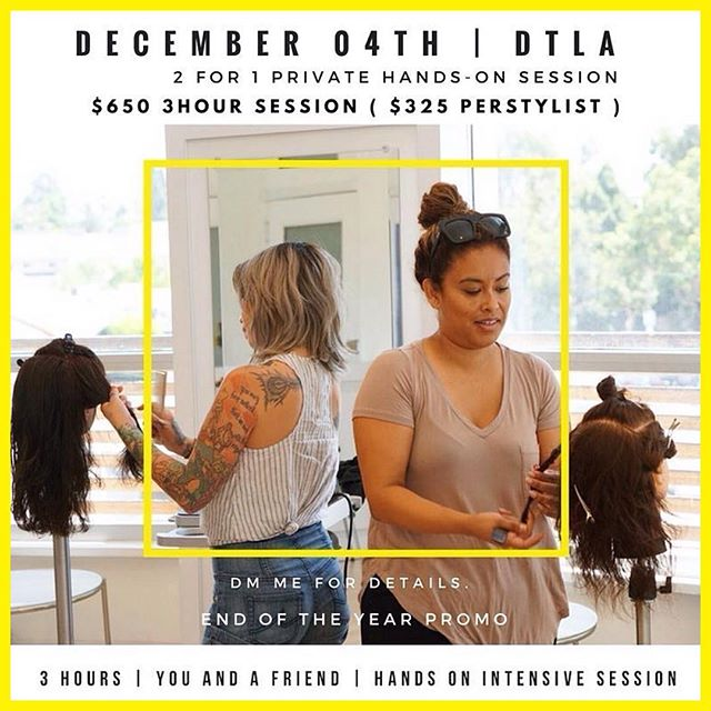 "Get a had start on your #haireducation 2018 goals. . . RepostBy @mitchellcantrellbeauty: ""December 4th I have one session left in my day of 1 on 1s that I will be teaching in #downtownla. Grab a homie and come have a private hands-on hairstyling session with me. One session left at this promo price of $650 for the 3 hour session, that's $325 each. Session will go fast, DM me for details. ~ With Passion  #MitchellCantrell . . 📸:@Ceannabocerceo"""" (via #RepostIG+ @AppsKottage)"