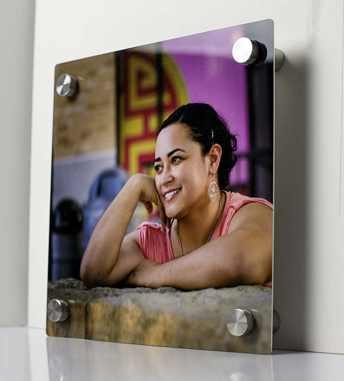 Metal Standoff - If you're looking to make your Photo Metal Prints standout even more, then take a look at our Metal Standoff Prints.All Metal Standoff Prints are shipped with a set of 4 posts per metal print, a paper template for each size ordered, drywall anchors, screws, and instructions on how to install them.