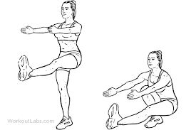 Pistola squat by Workoutlabs.com
