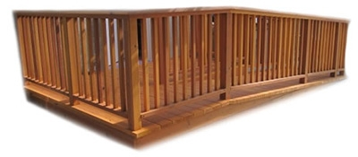 Photo of wooden permanent ramp by Upside Innovations