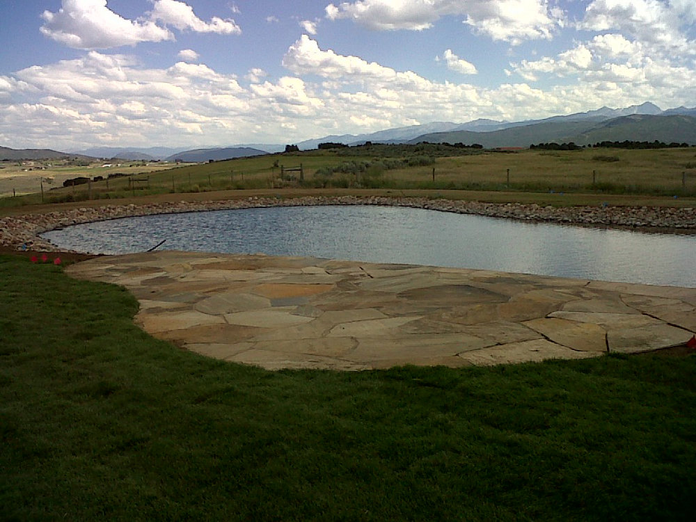 Residential custom pond