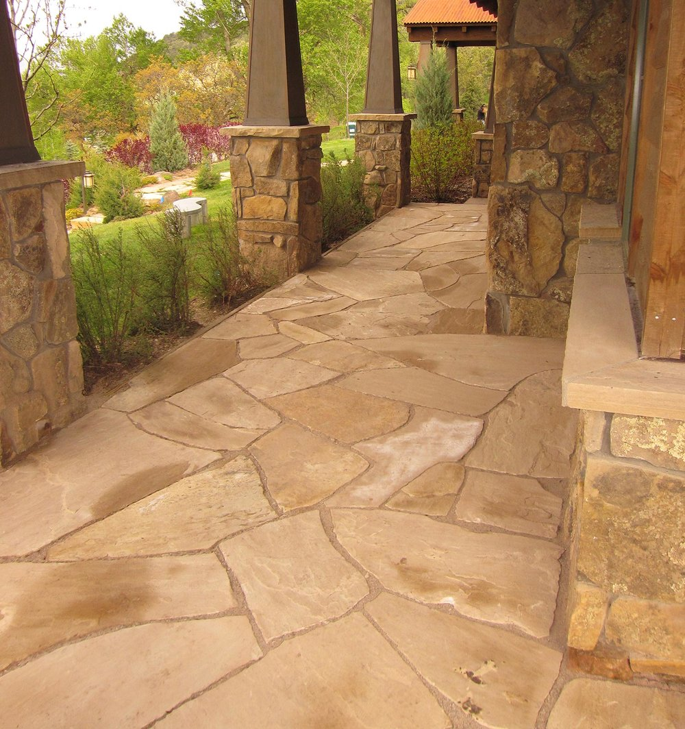 Residential patio walk
