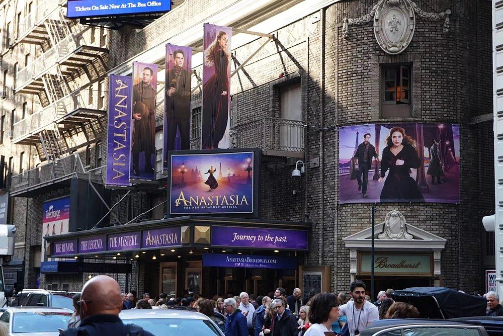 Thursday April 13th 2017. Broadhurst Theatre, Times Square.