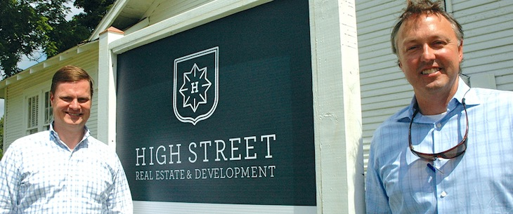 Ward Davis, left, and Morgan Hooker are the founding members of High Street Real Estate and Development in Springdale.