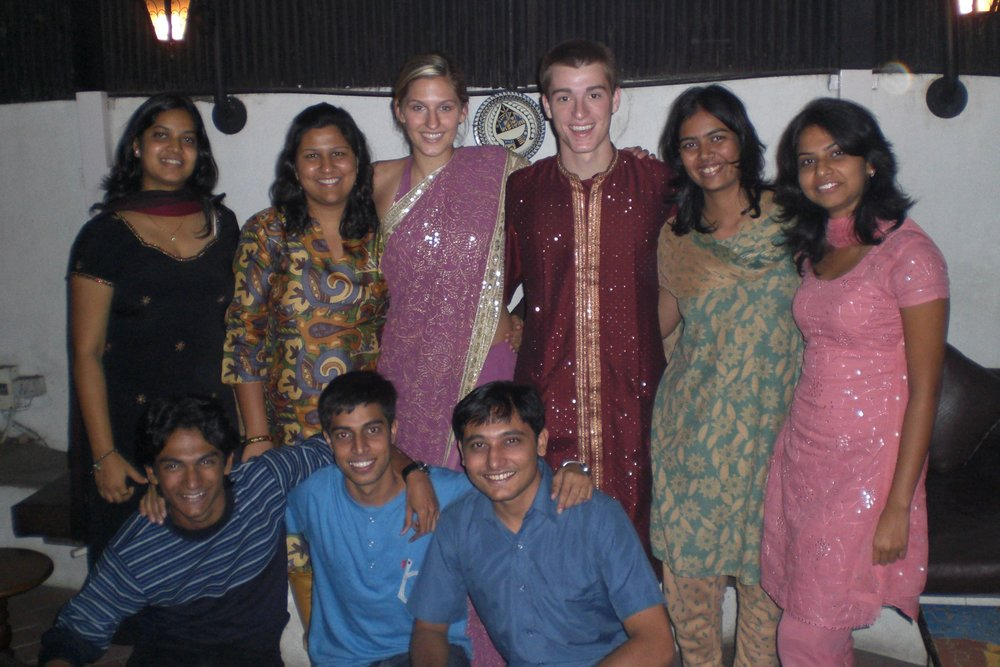 Farewell dinner with a wonderful group of friends after an incredible six-month internship.  Pune, India - 2008