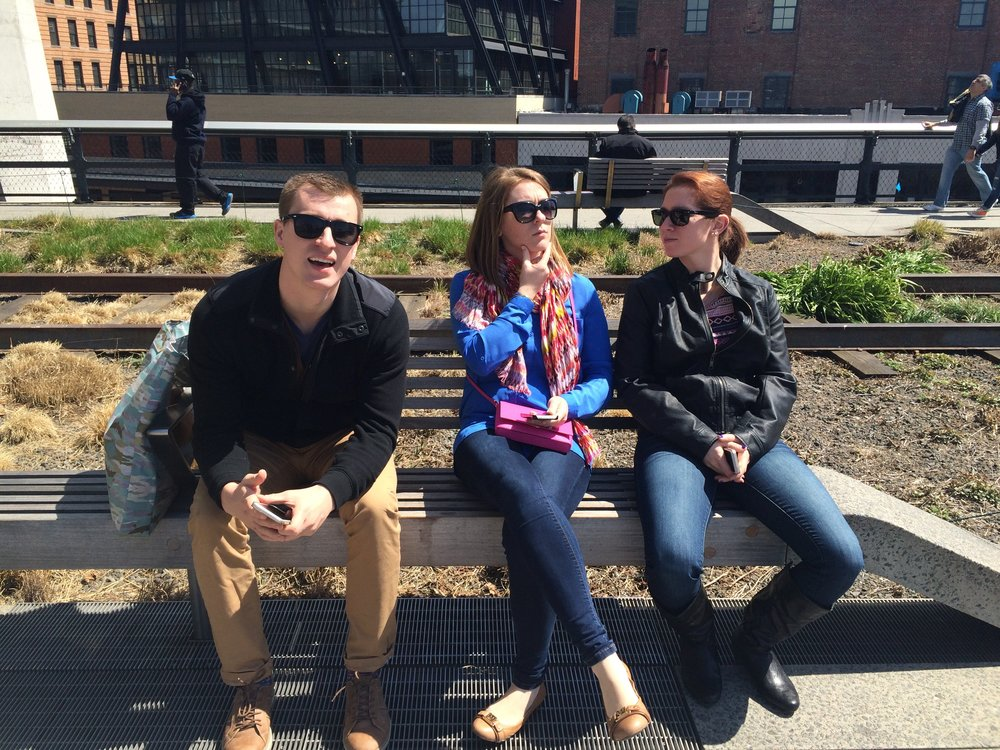 Walking the High Line in NYC with my sister and cousin.  New York, New York - 2016