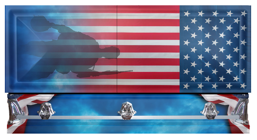Patriot Casket Side and top view.jpg