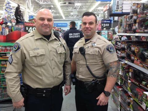 Matt Schneider (right) in uniform.