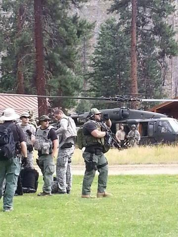 """Matt Schneider (far right) """"on duty."""""""