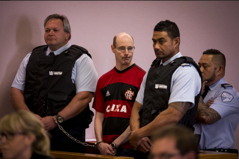 Phillip Smith stands in the dock at the Auckland District Court, Photo / Dean Purcell, courtesy of / nzherald.co.nz