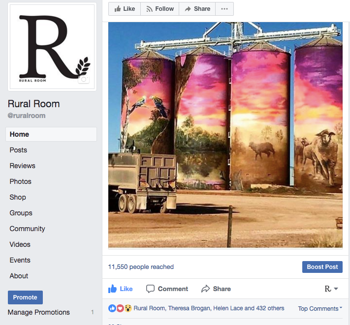 RURAL ROOMis a Facebook community of nearly 60,000 people living around Australia.  -