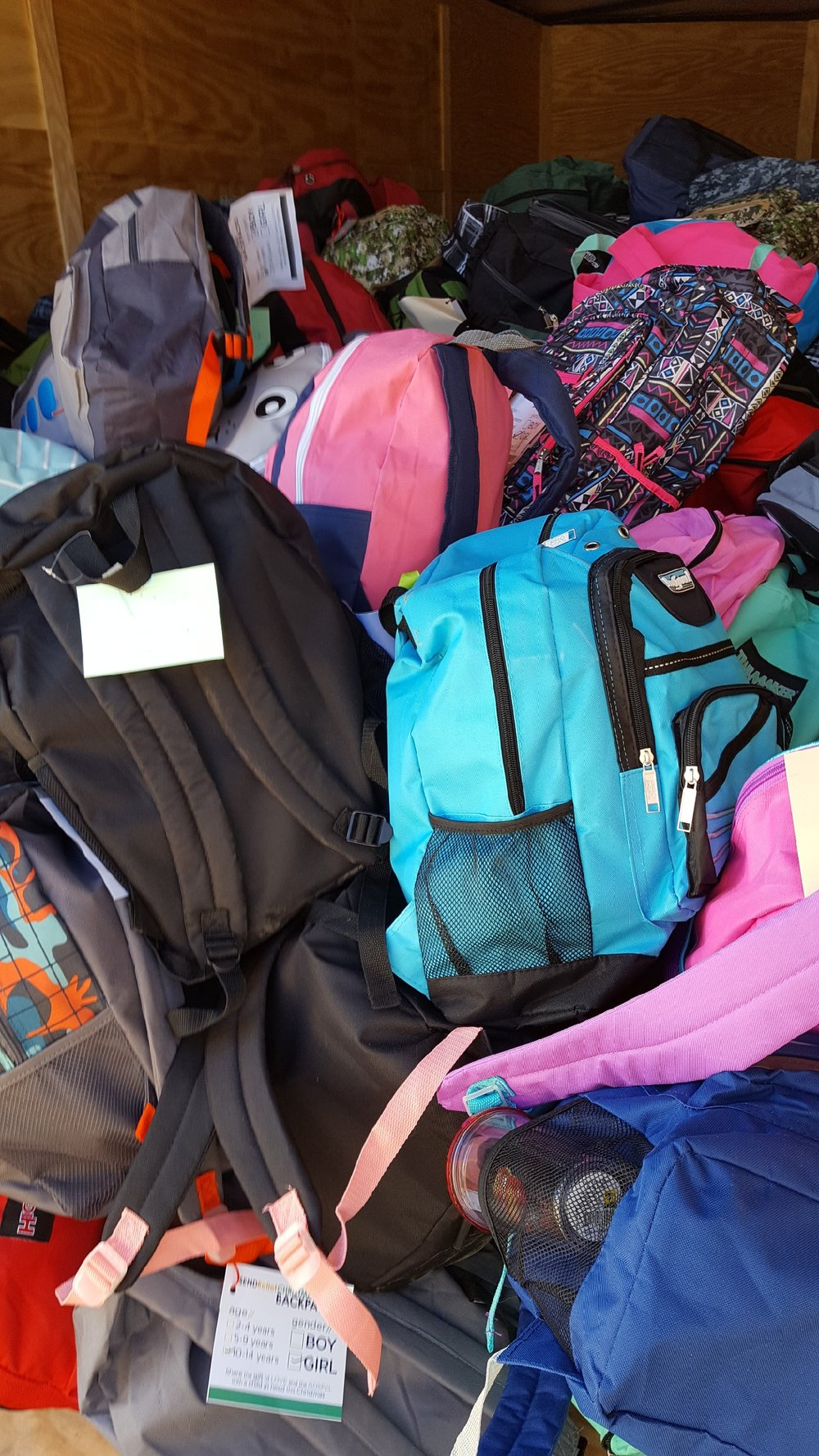 Christmas Backpacks for children in Appalachia project