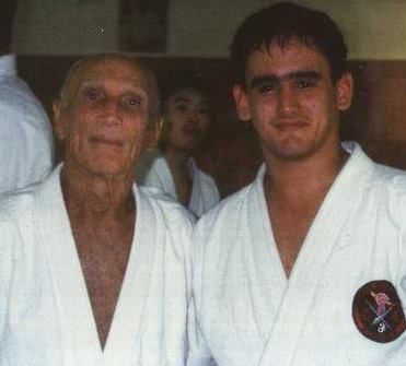 Grand Master Helio Gracie and Professor JP in the 1.990s