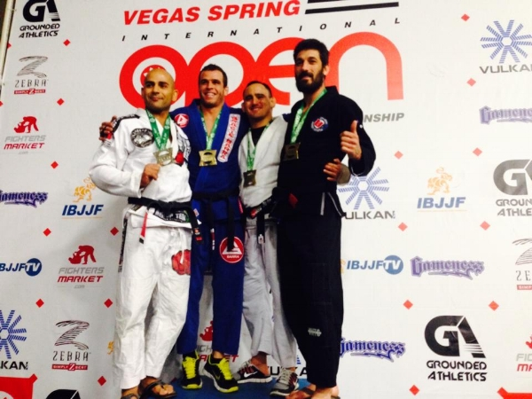 Juan Pablo Garcia On The Podium At The IBJJF Vegas Spring Open