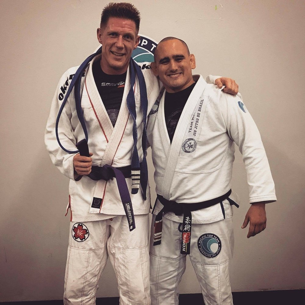 Daniel Bohn & Professor Juan P Garcia last night at Pacific Top Team Jiu Jitsu Corona