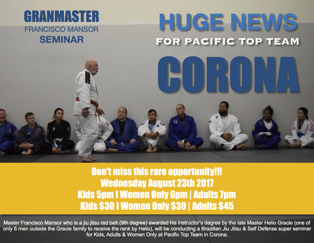 GrandMaster Mansor Super Jiu Jitsu Seminar in Corona