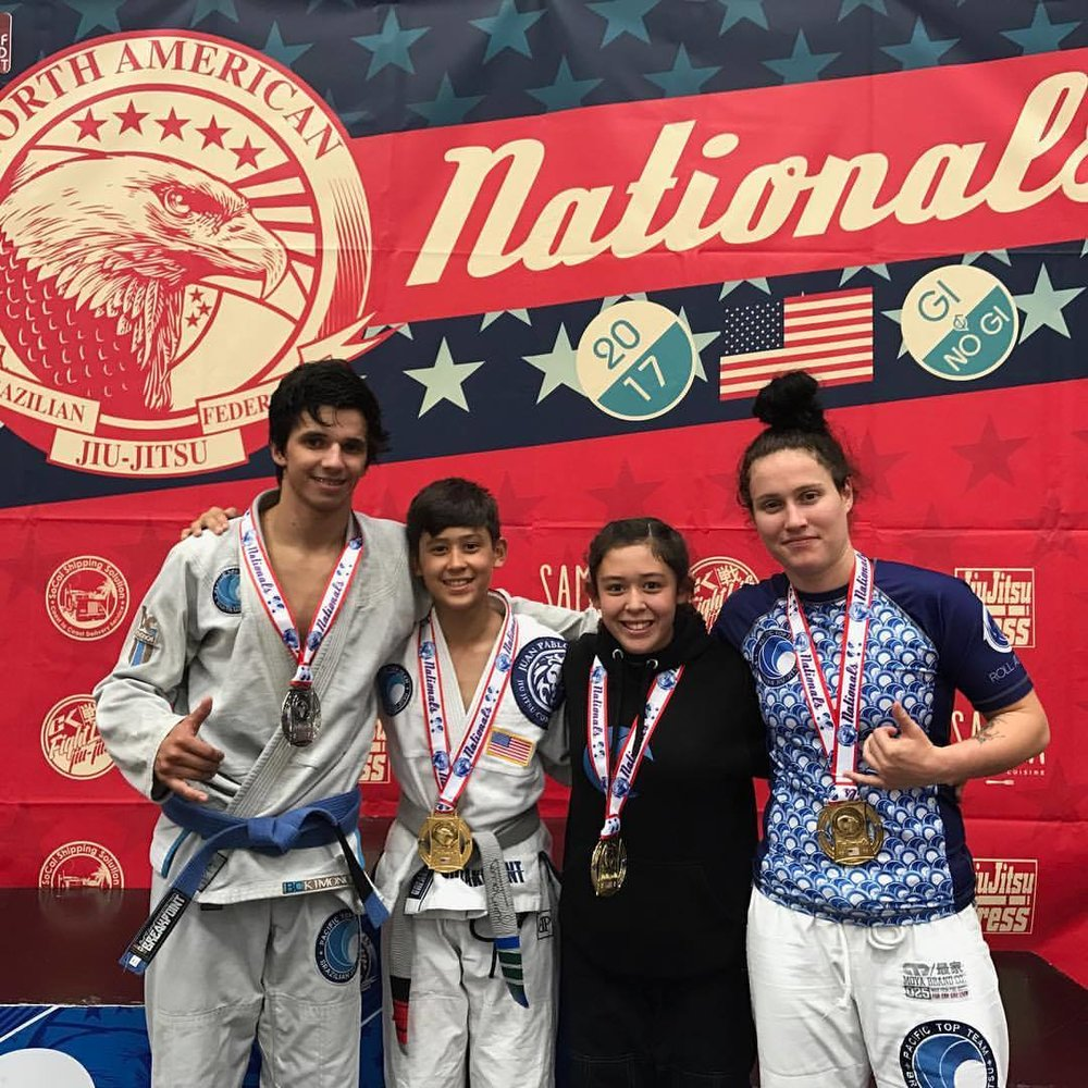 Coach Felipe American Nationals Silver Medalist, Russell, Sophia & Stephanie American National Champions!
