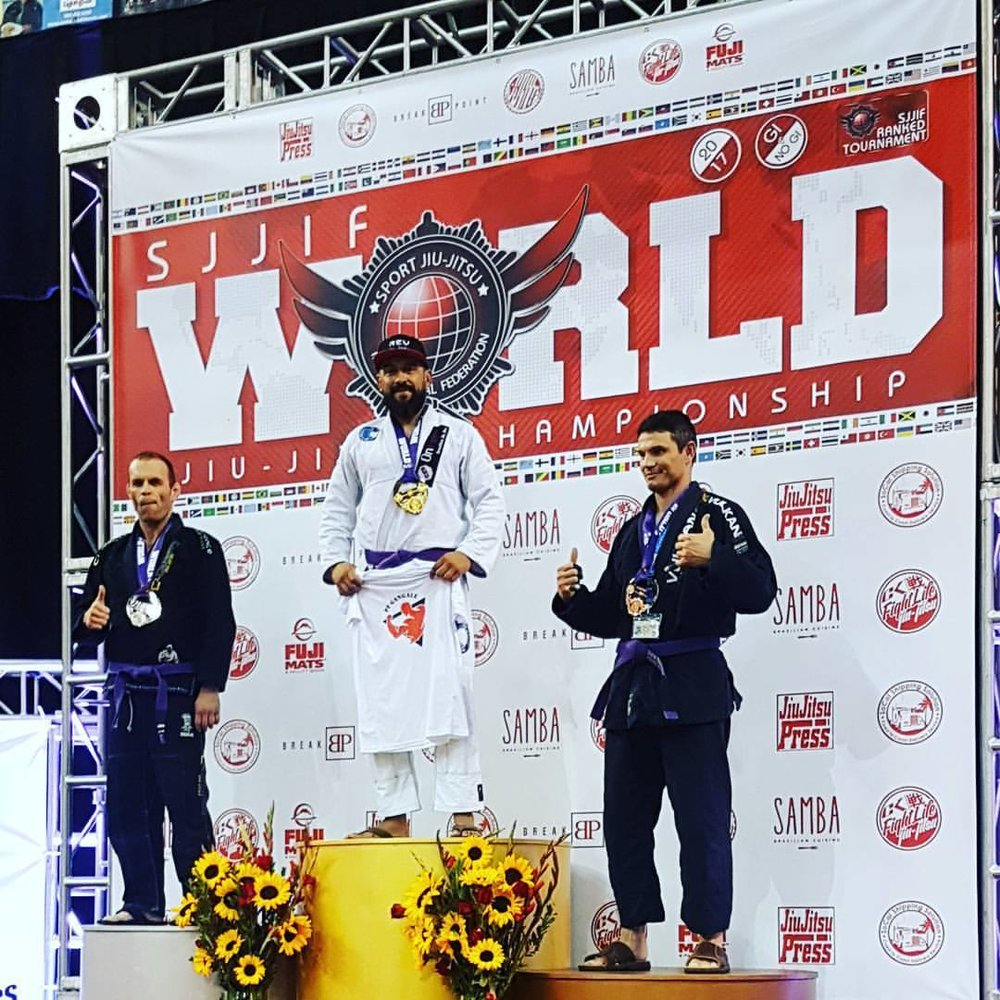 Pablo Kendall 2017 SJJIF World Jiu Jitsu Tournament Purple Belt Champion