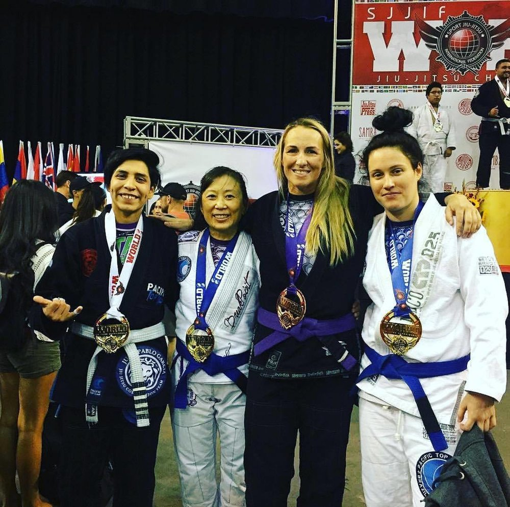 Pacific Top Team Jiu Jitsu Corona Girls at the SJJIF World Championship  2017