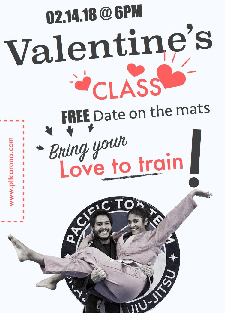 Jiu Jitsu for Valentine's Day corona