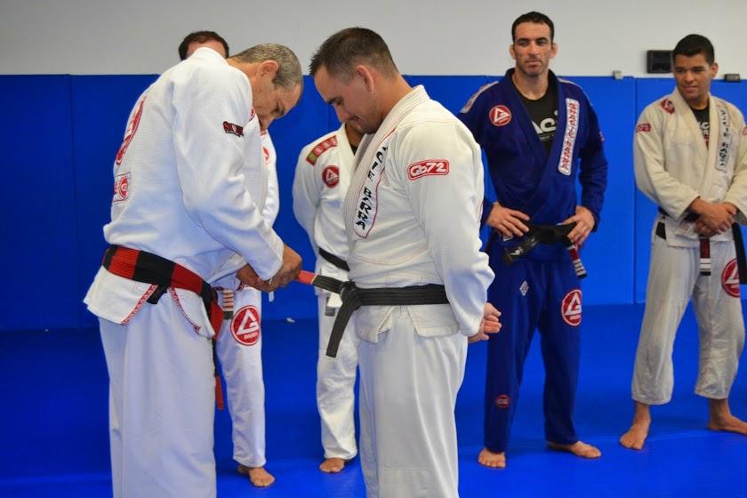Juan Pablo Garcia jiu jitsu belt promotion