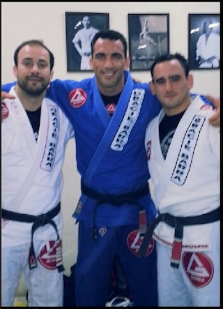 With Marcio Feitosa & Braulio Estima Training at Gracie Barra HQ in Rio, Brazil