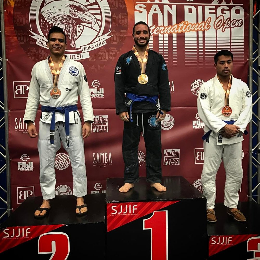 Pacific Top Team Brazilian Jiu Jitsu Student in Corona gets double gold in San Diego.jpg
