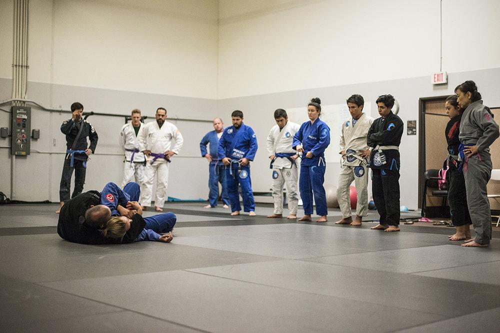 Adults jiu jitsu class
