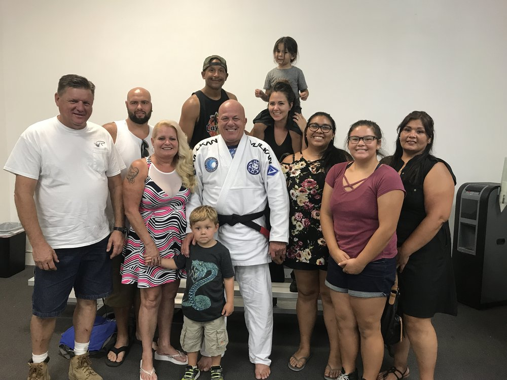 Officer Kevin Black Belt Promotion with his family!