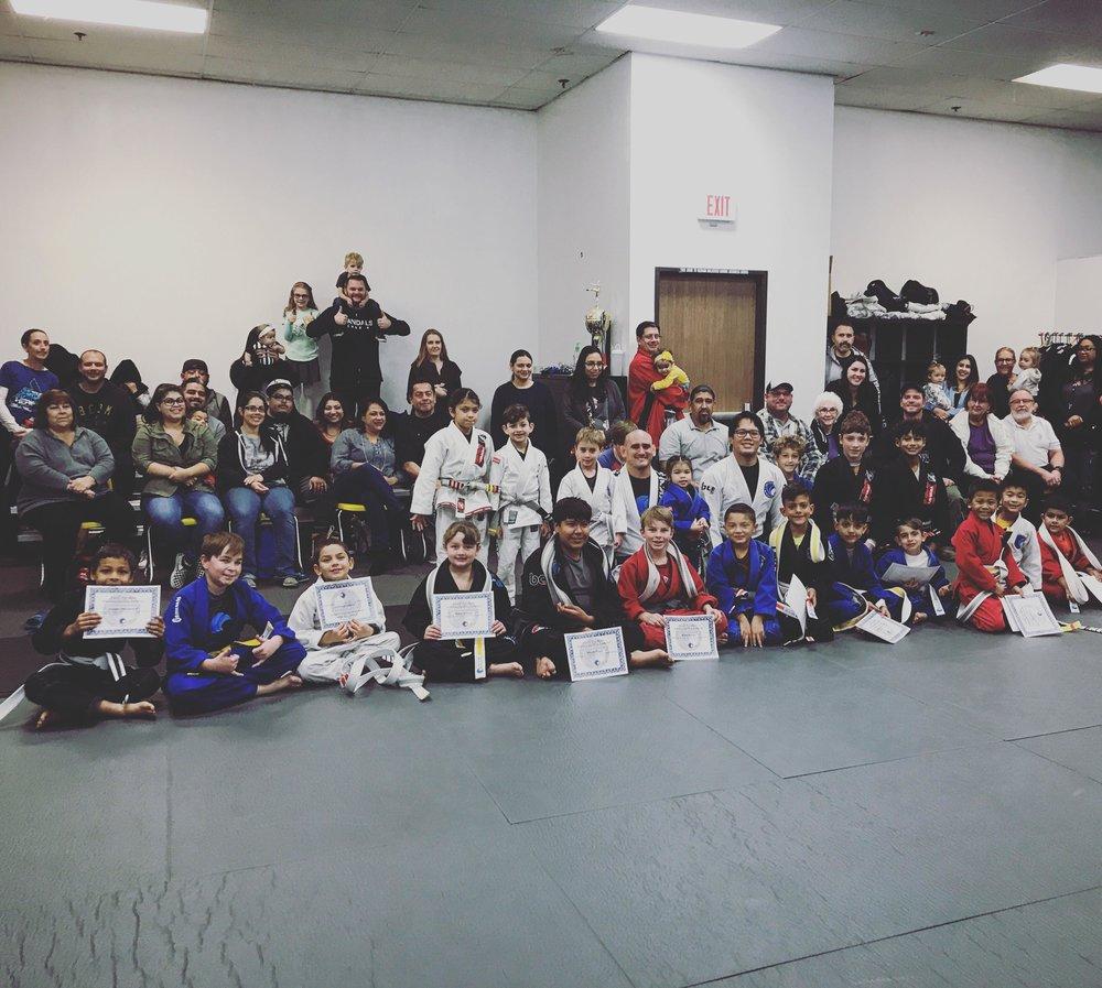Kids Jiu Jitsu Belt Promotions Corona