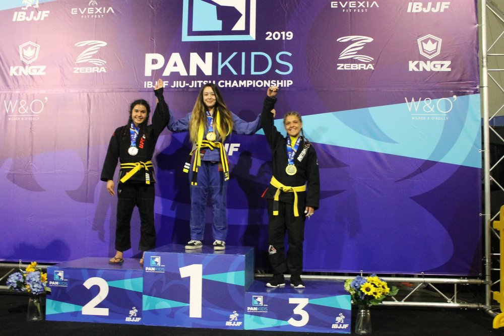 Sophia IBJJF PAN KIDS podium