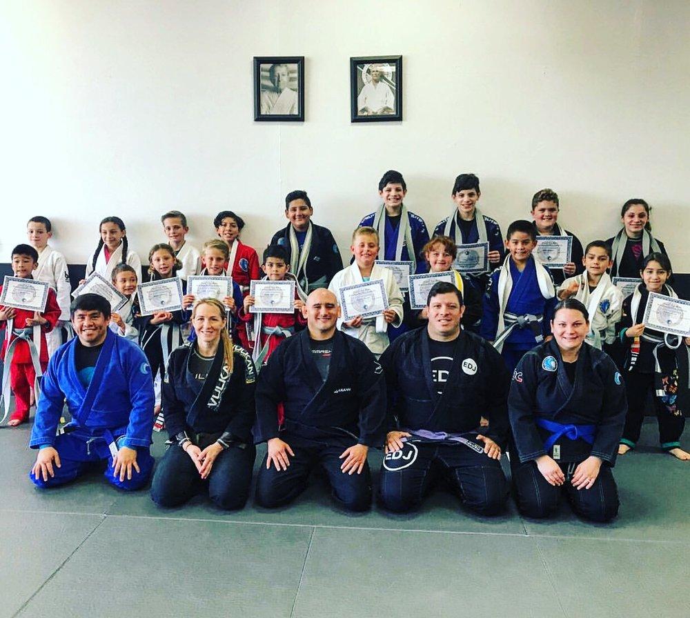 Kids jiu jitsu belt promtions
