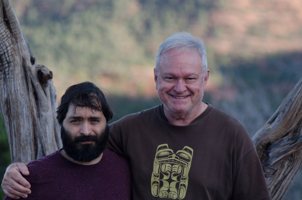Pedro-with-phICA-director-curator-Ted-Decker-in-Sedona.jpg