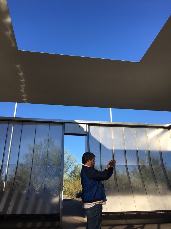 Daniel visiting the James Turrell skyspace at Arizona State University. 12-18-15