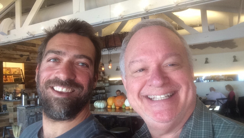Túlio Pinto and Ted Decker enjoying brunch together at Fàme Caffe, Phoenix. 11-5-15