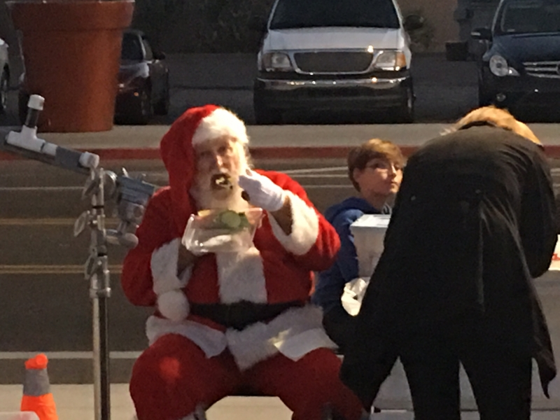 Tulio encounters Santa Claus on Roosevelt Row, 11-14-15