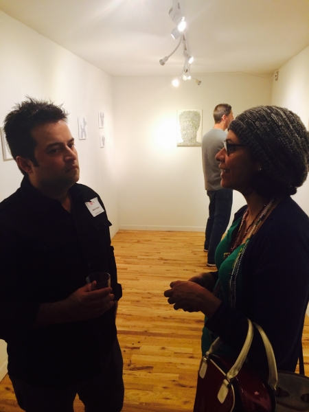 Alexis with visual artist Verónica Aponte. 2-20-15  Photo credit: Ted Decker