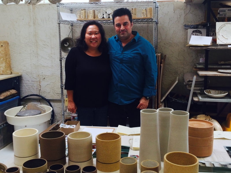 Alexis with visual artist Miro Chun. 2-21-15  Photo credit: Ted Decker